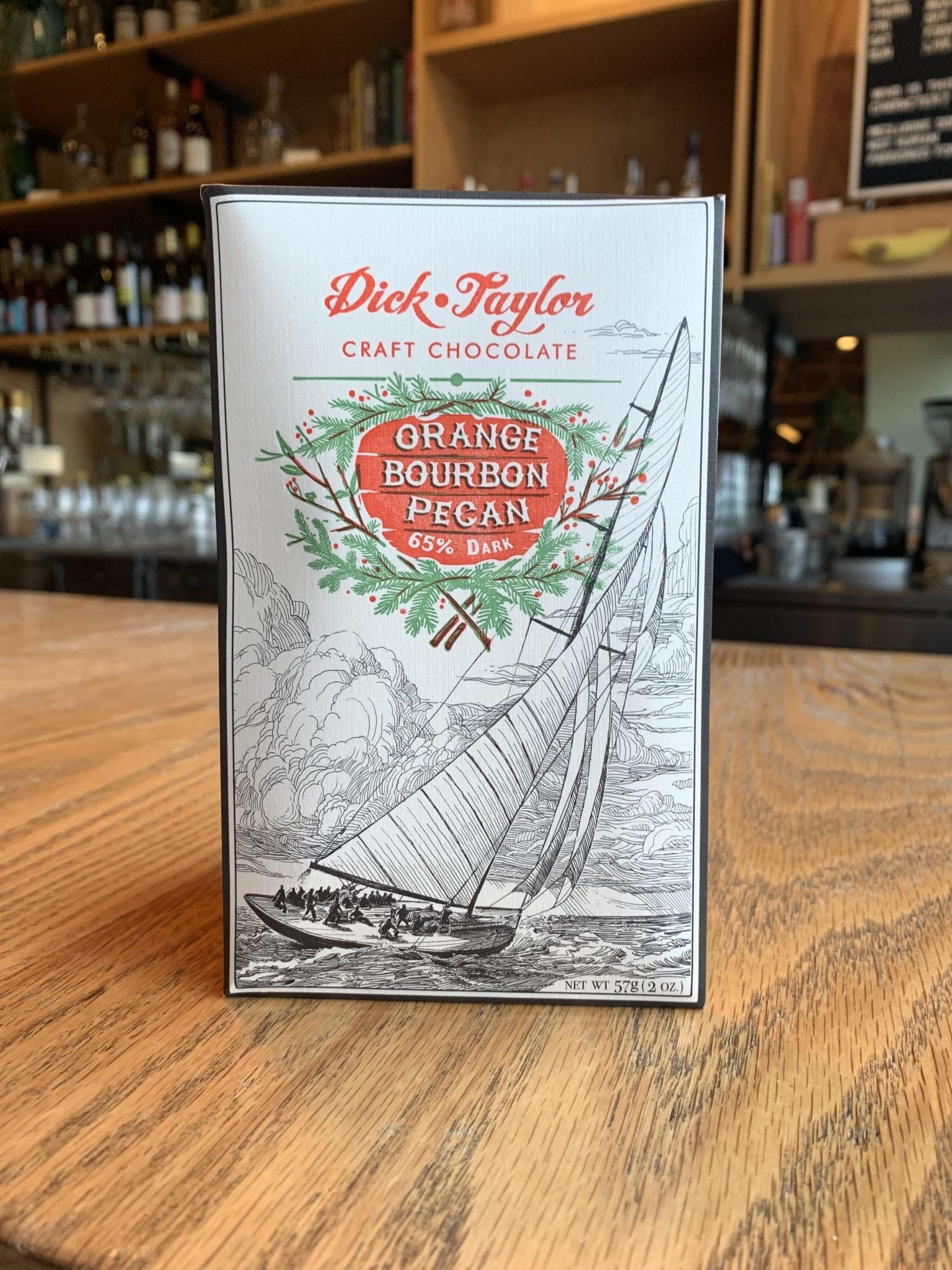 Dick Taylor Craft Chocolate Dick Taylor Orange Bourbon Pecan 65% Chocolate Bar 2oz
