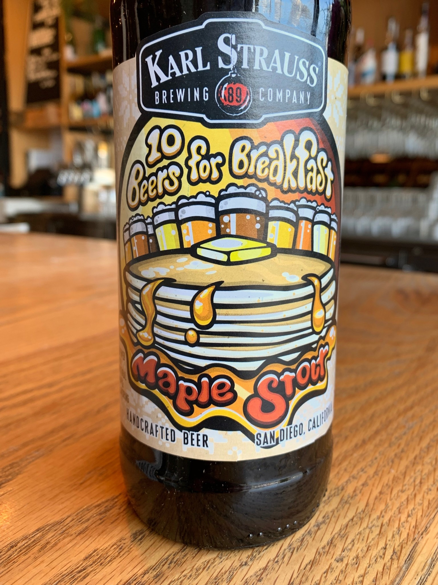 Karl Strauss Karl Strauss Brewing 10 Beers for Breakfast Maple Stout 22oz