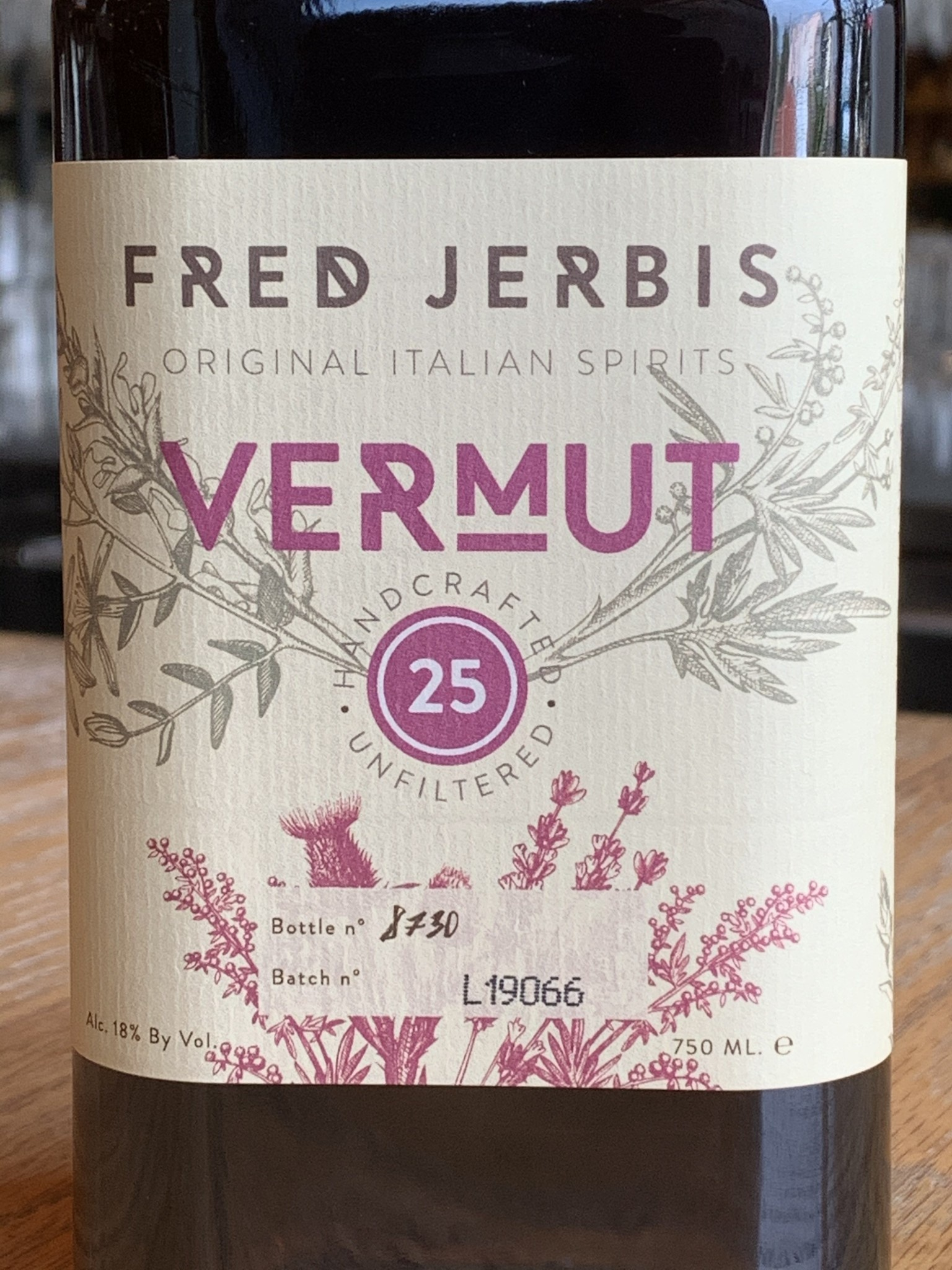 Fred Jerbis Fred Jerbis Vermouth 750ml