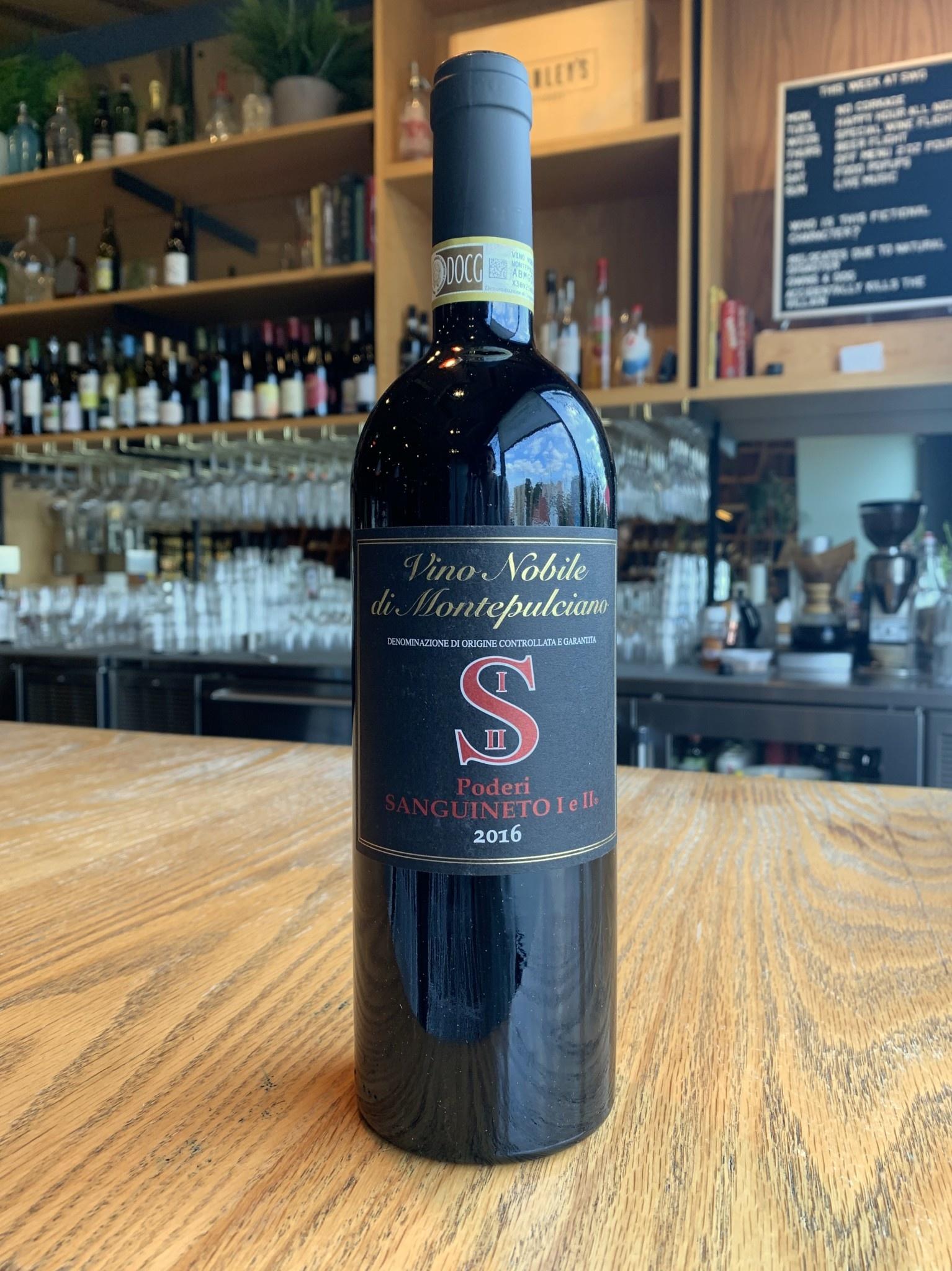 Poderi Sanguineto I e II 2016 Poderi Sanguineto I e II Vino Nobile di Montepulciano 750ml