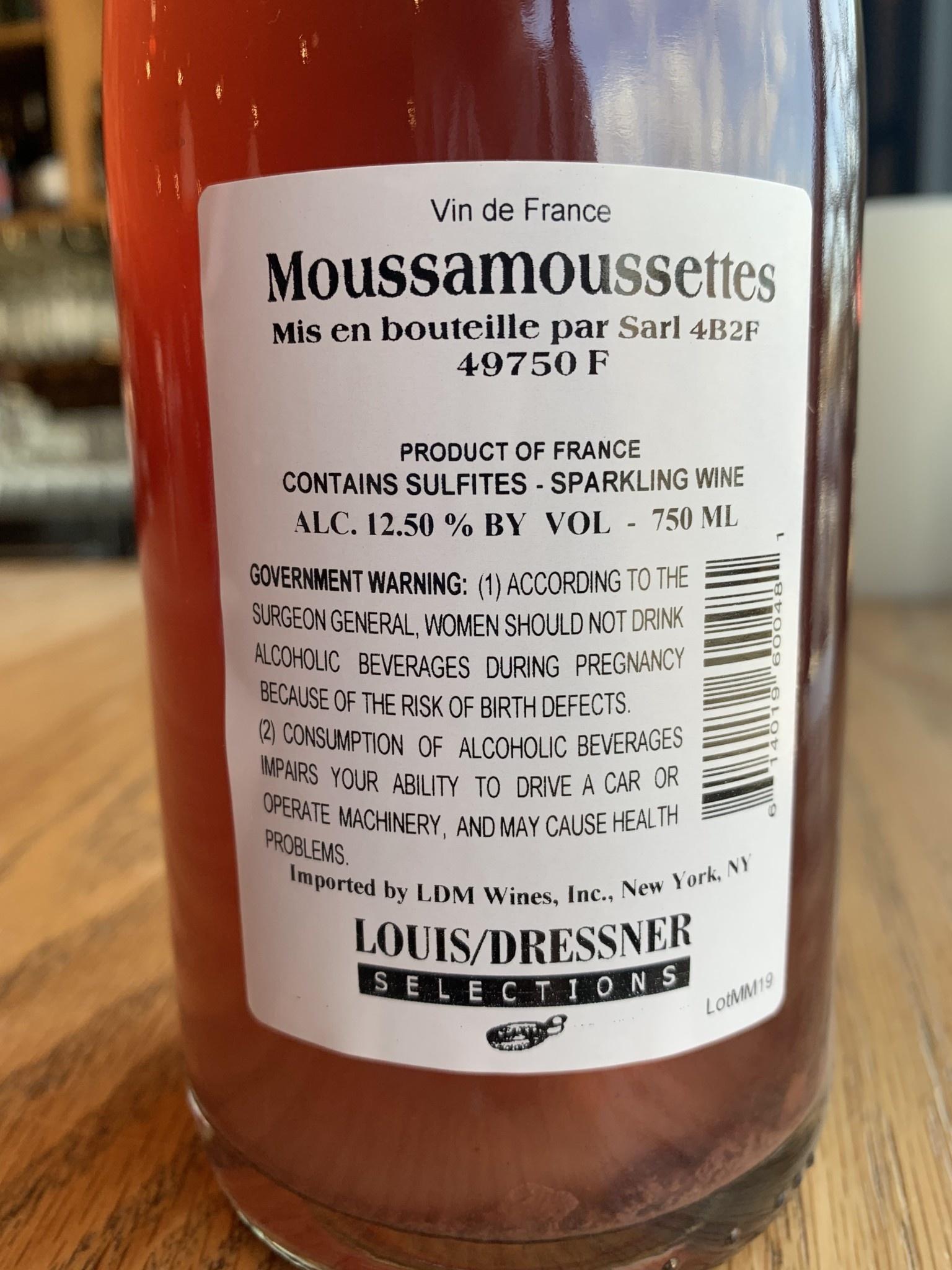 Agnès & René Mosse 2018 Mosse Moussamoussettes 750mL