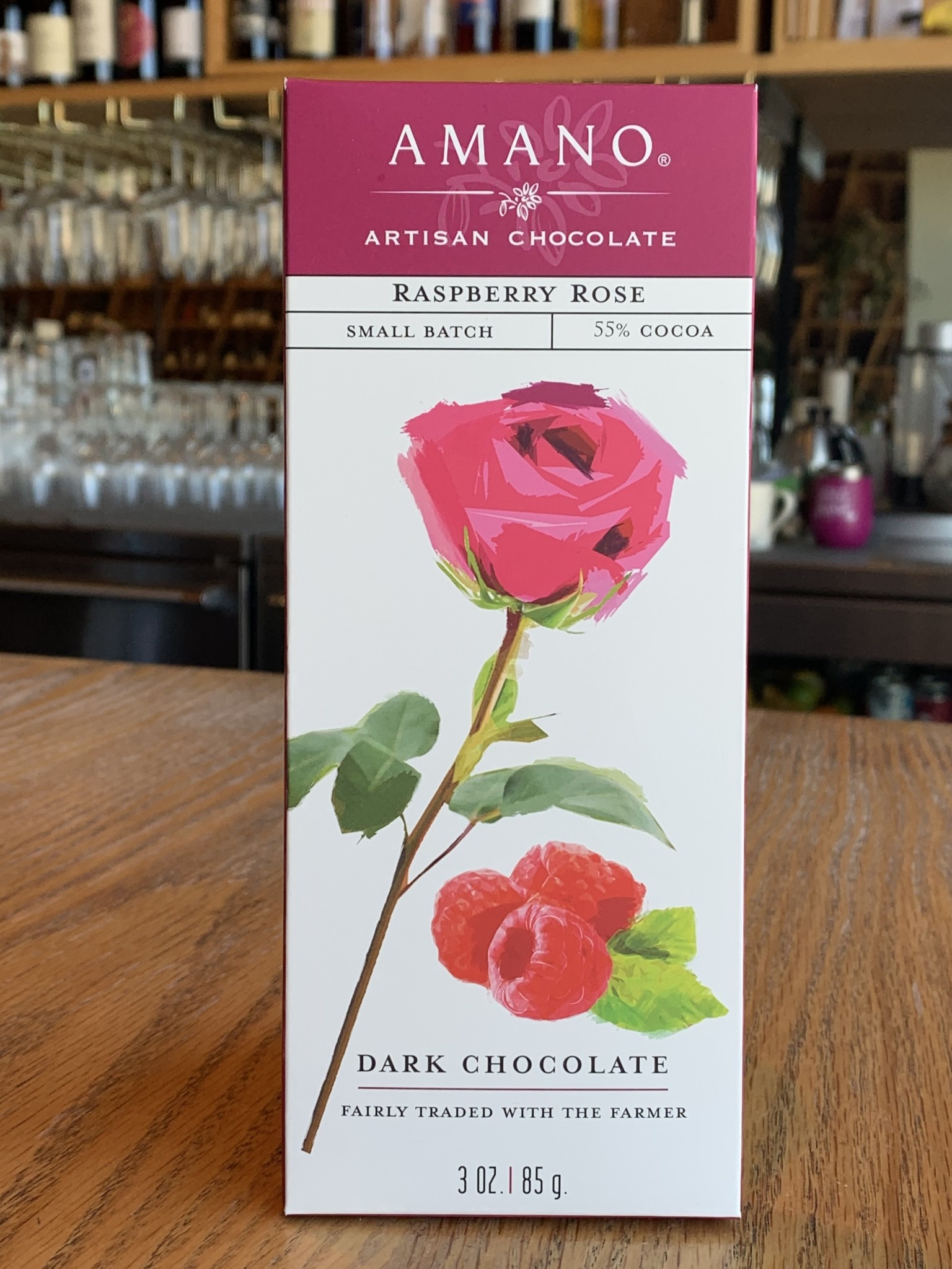Amano Artisan Chocolates Amano Artisan Chocolates Raspberry Rose 3oz