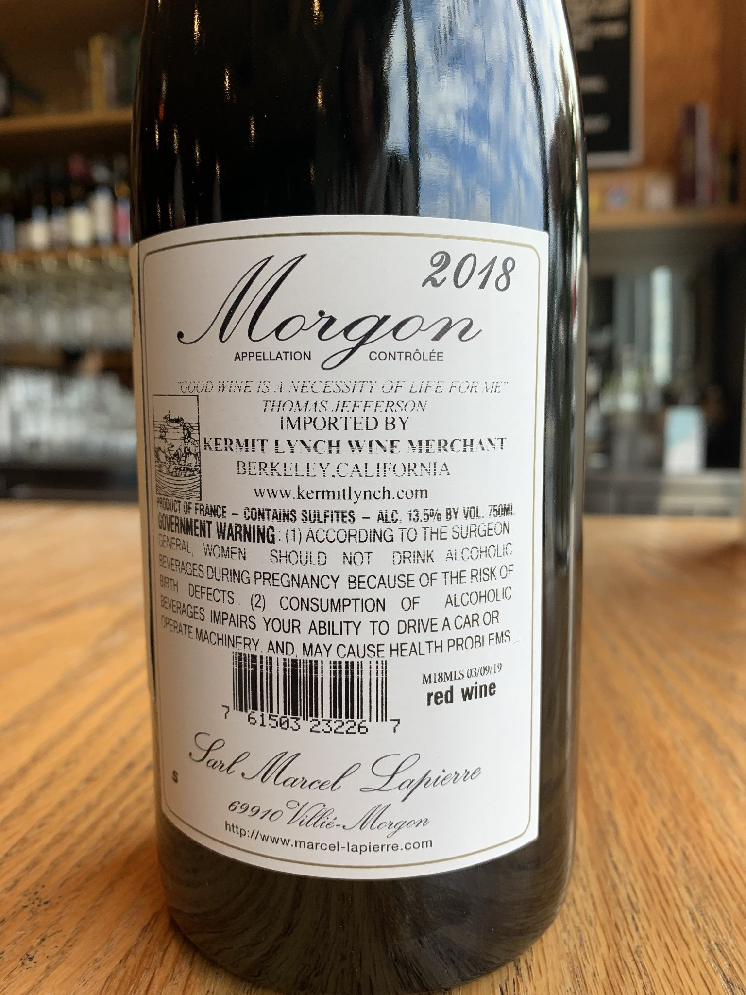 "Marcel Lapierre 2018 Marcel Lapierre ""Cuvée Marcel Lapierre"" 750ml"
