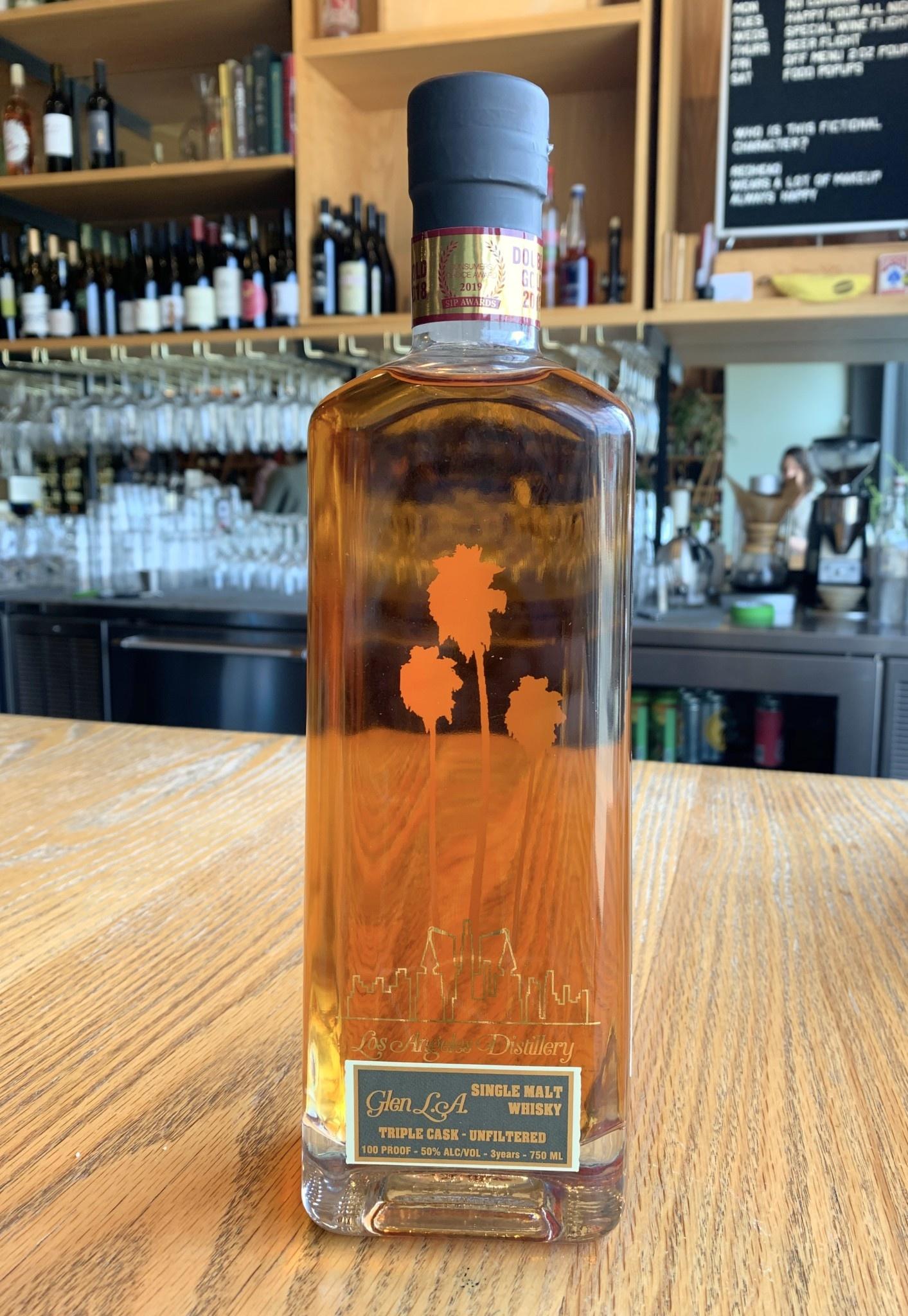 Los Angeles Distillery Los Angeles Distillery Glen LA Triple Cask 3yr Single Malt Whisky