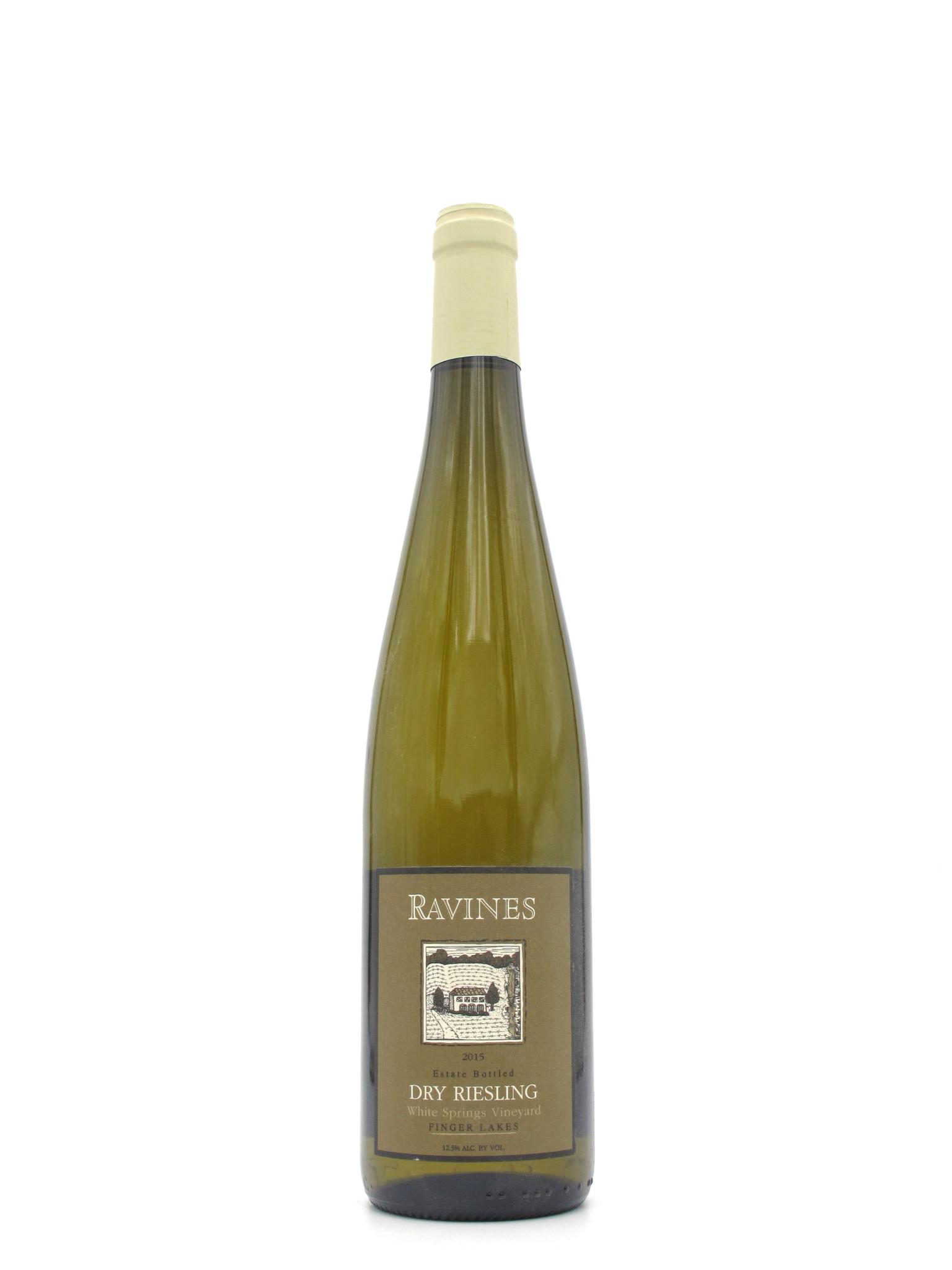 Ravines Wine Cellars 2015 Ravines Dry Riesling White Springs 750ml