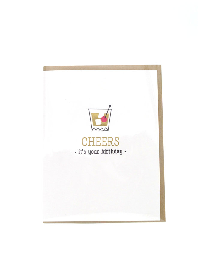 Cheers Classic Cocktail Elum Greeting Card