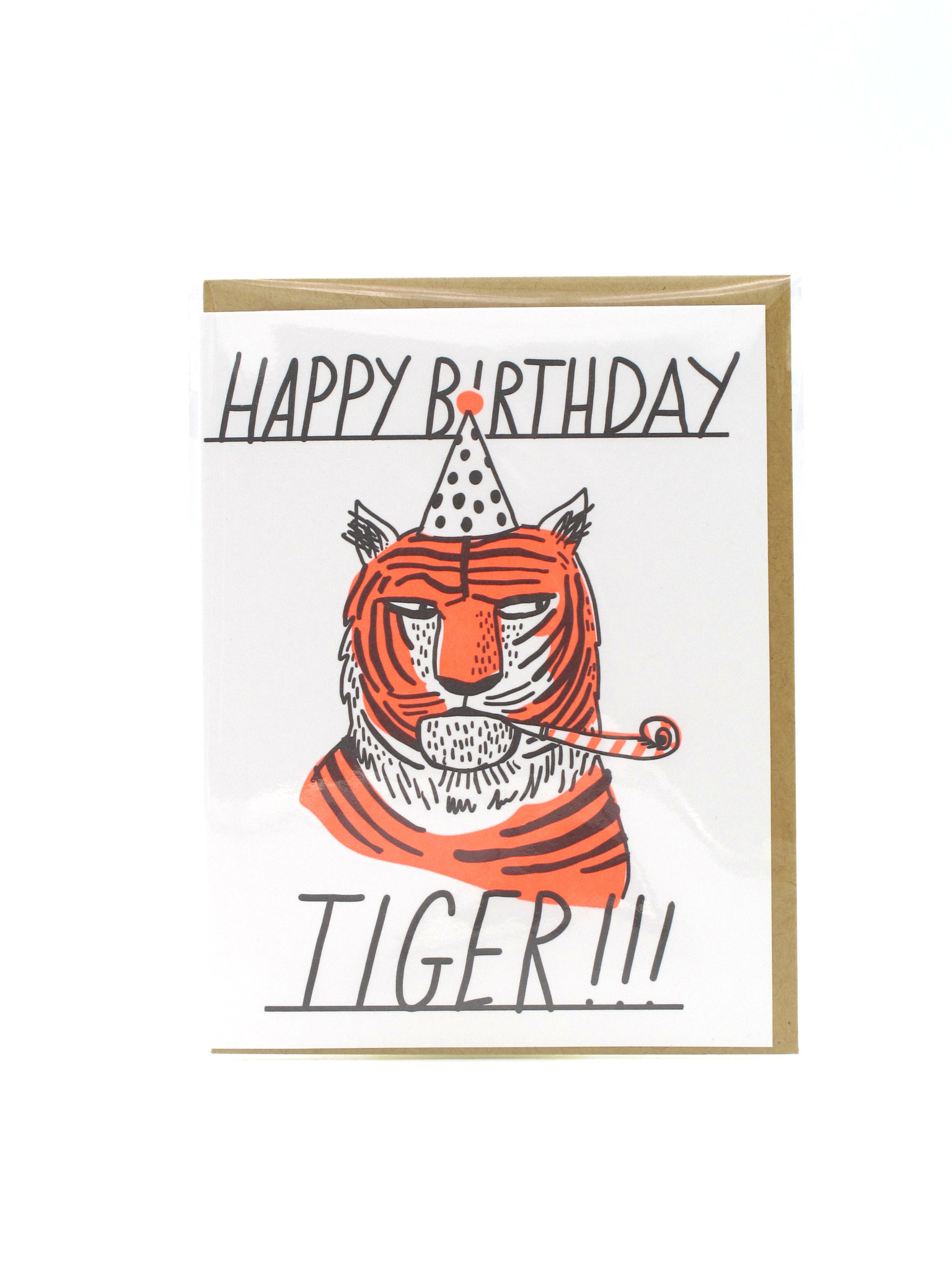 Egg Press Happy Birthday Tiger Greeting Card