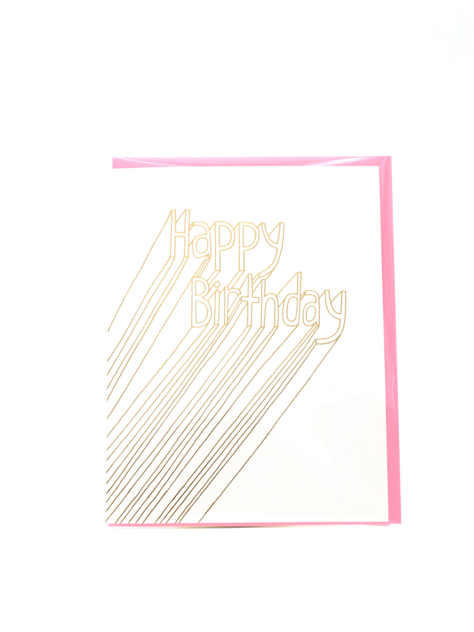 Egg Press HBD lines-NR Ashkahn Greeting Card