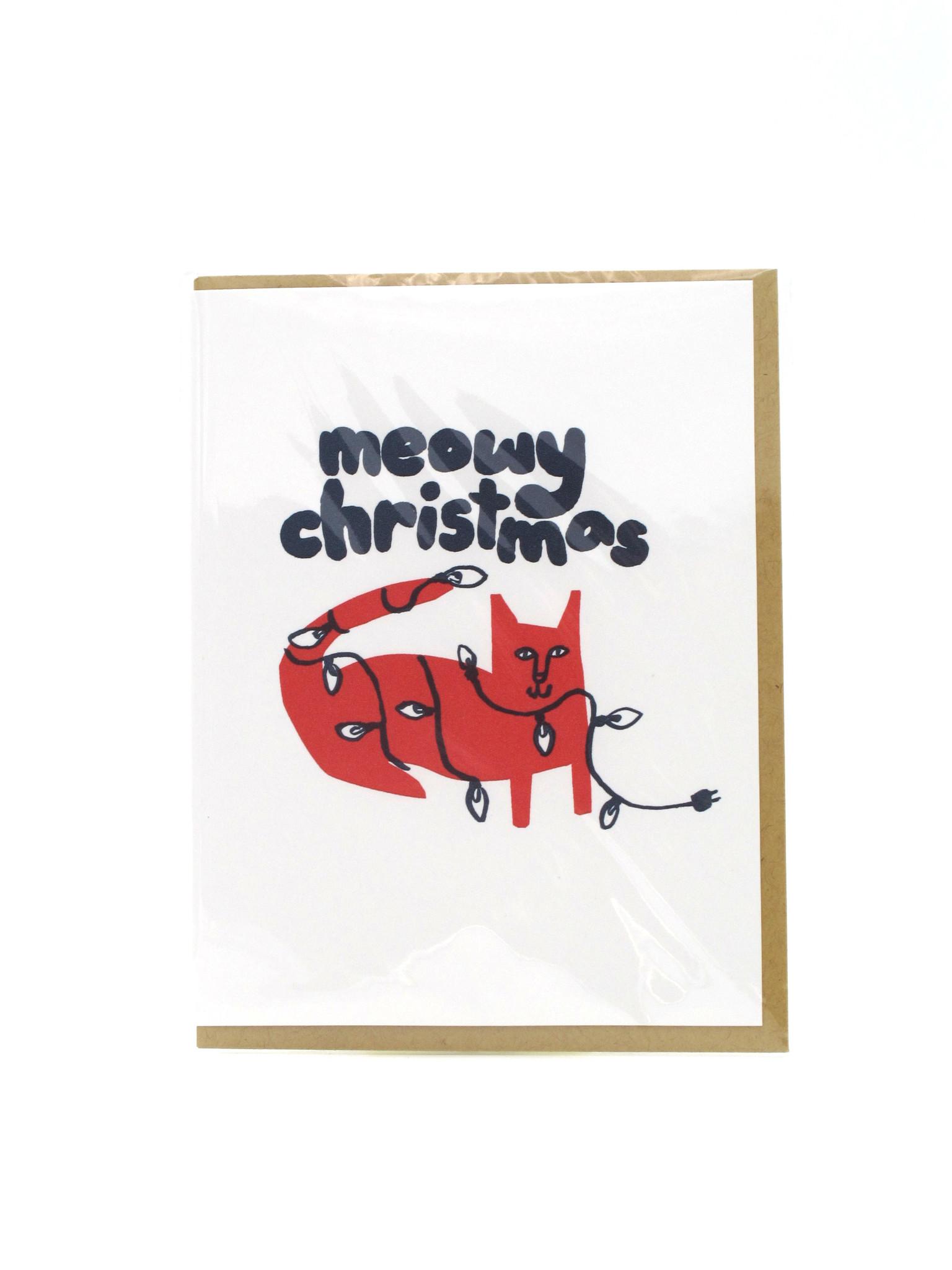 Egg Press Meowy Christmas Holiday Greeding Card