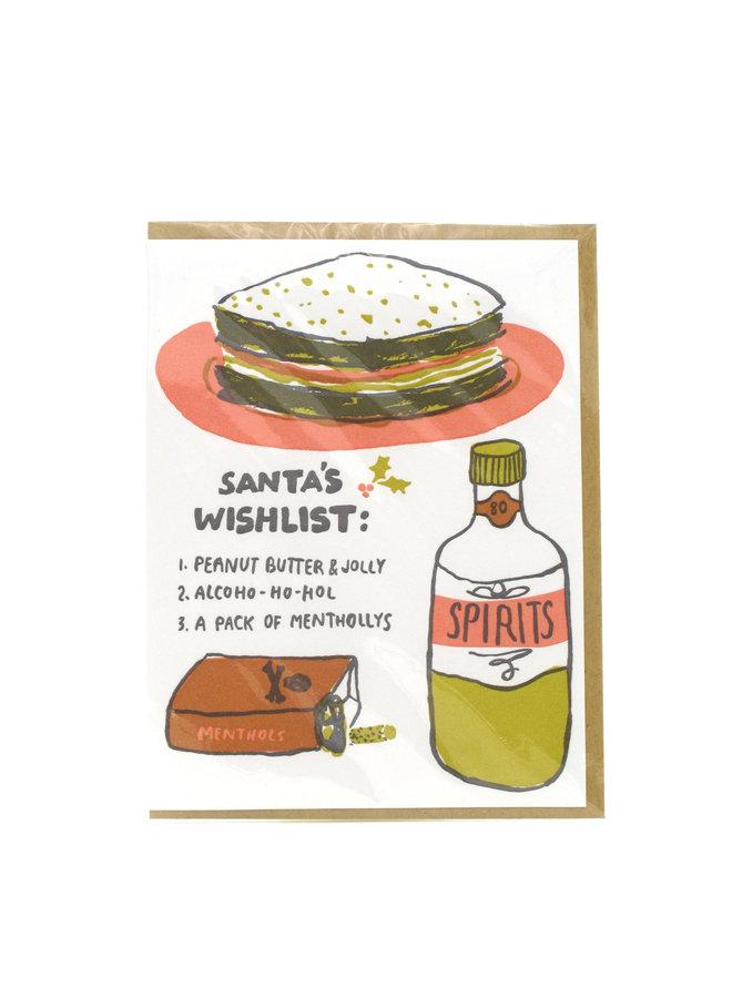 Santa's Wish List Holiday Greeting Card