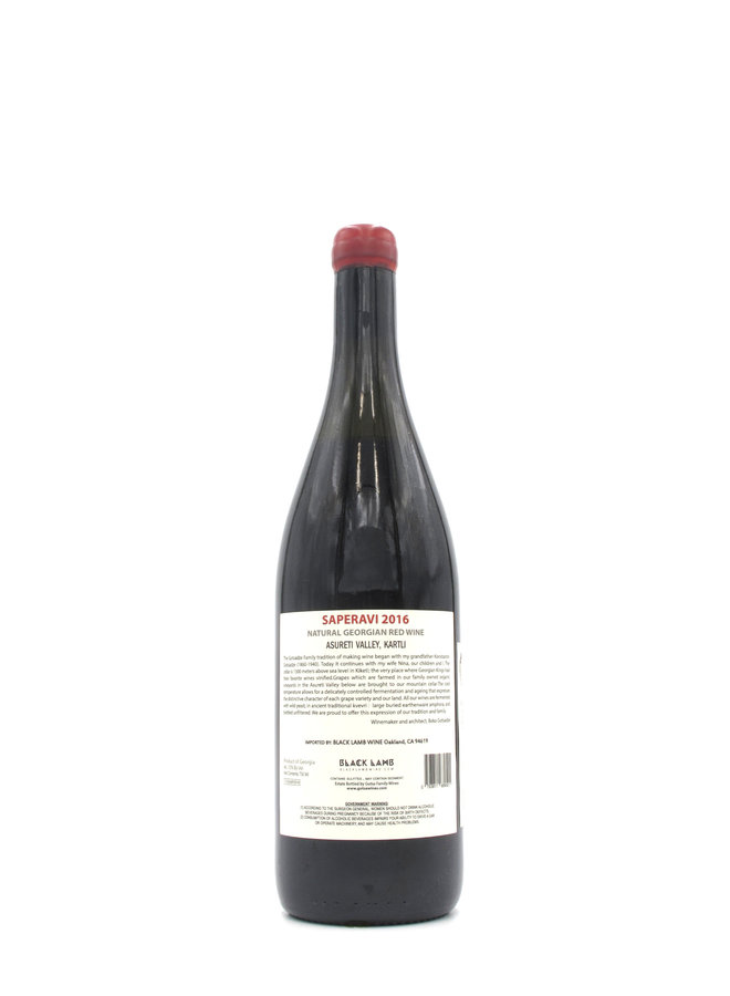 2016 Gotsa Family Wines Saperavi 750ml