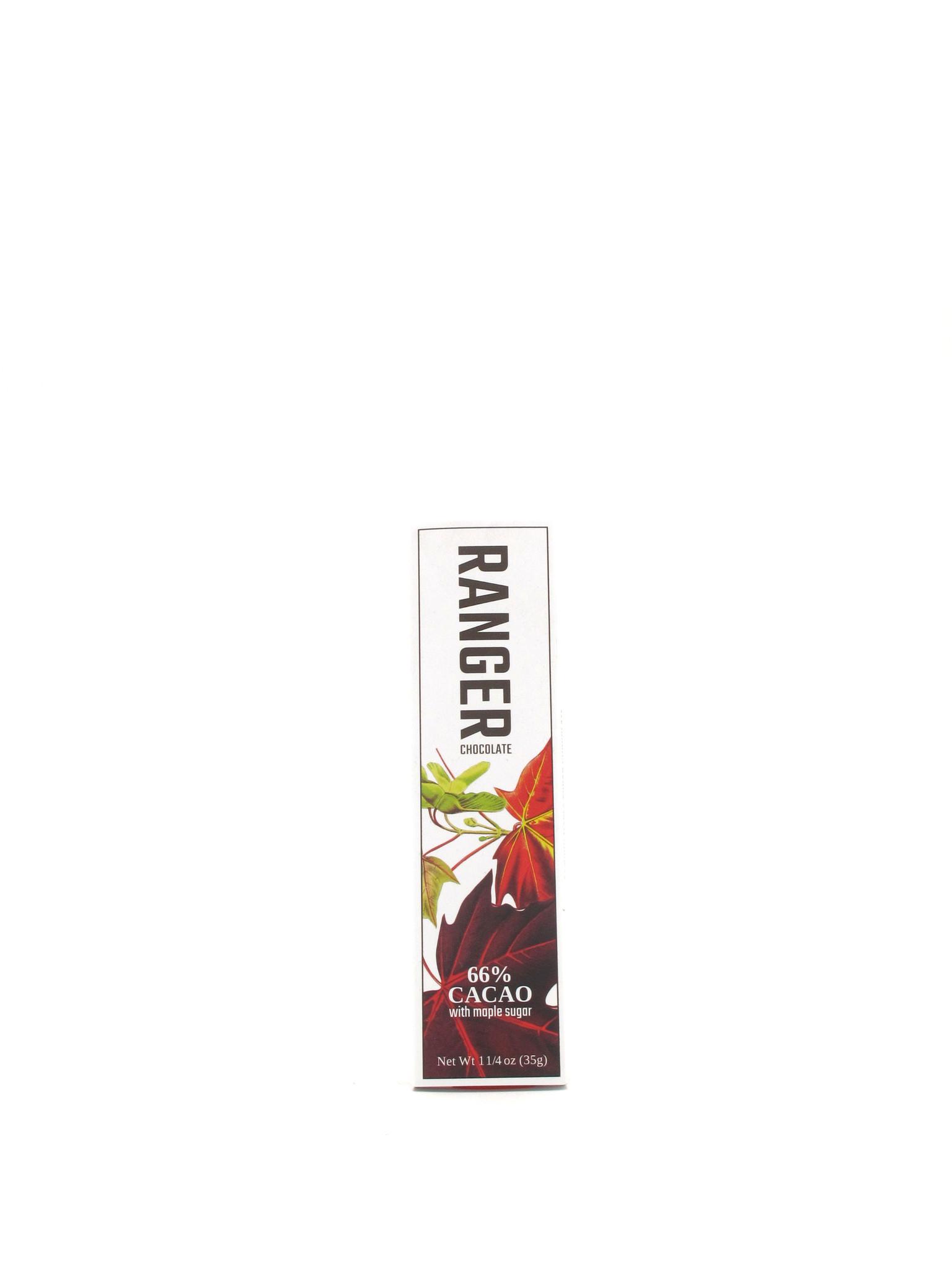 Ranger Chocolate Ranger Chocolate Maple Sugar 66% Chocolate Bar 1.25oz