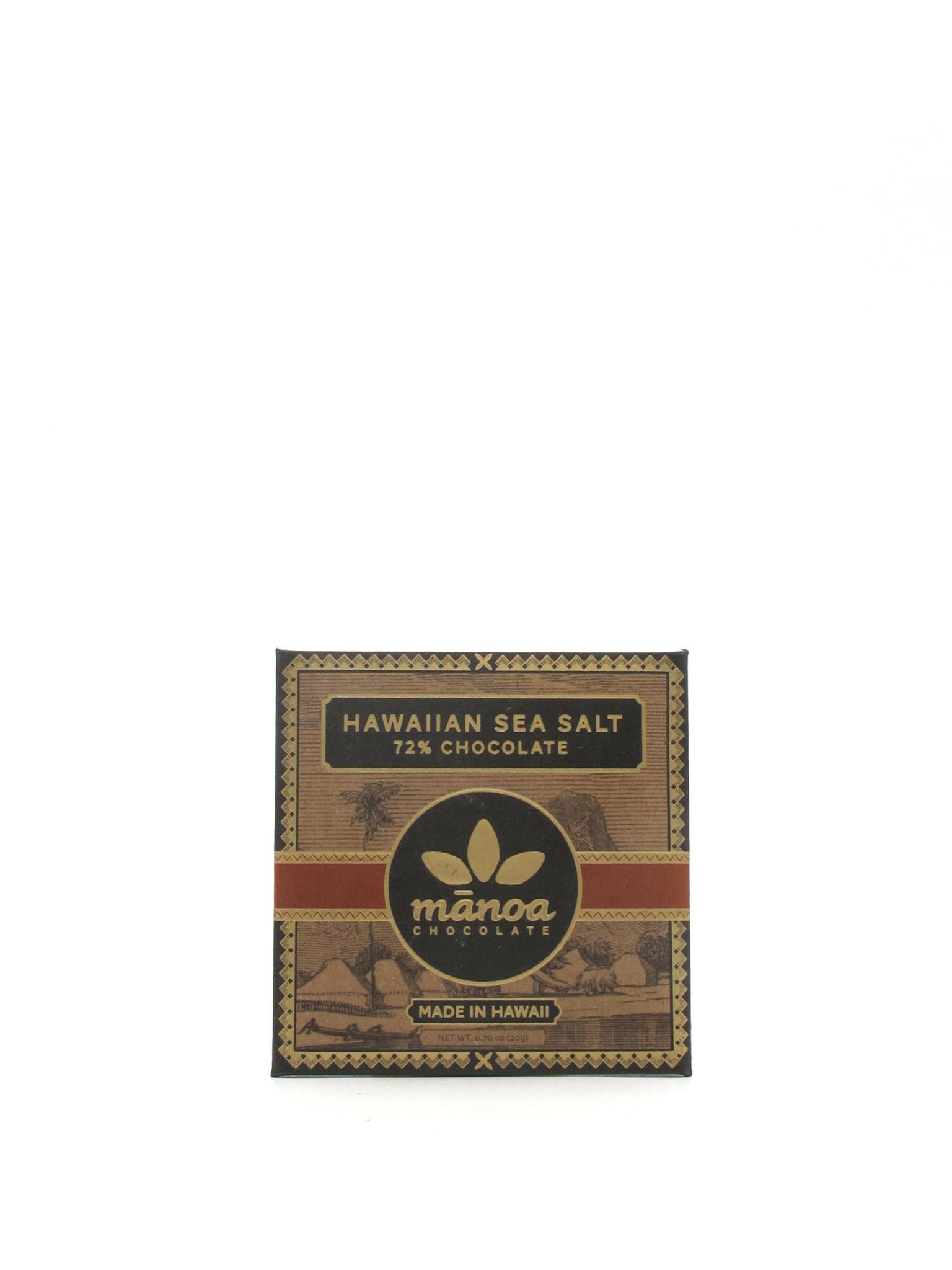 Manoa Chocolate Manoa Hawaiian Sea Salt 72% Mini 20g