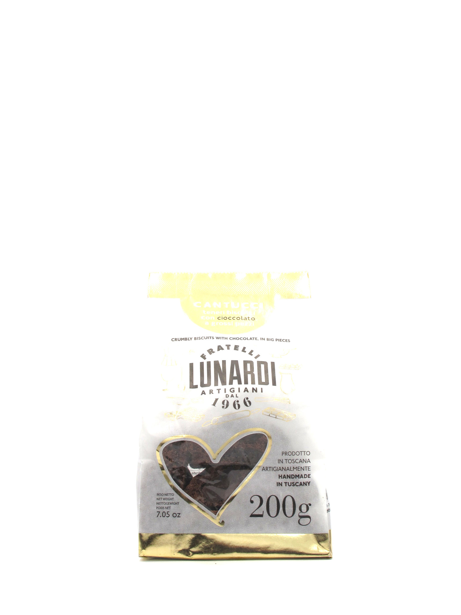Lunardi Fraetelli Lunardi Chocolate Biscotti 200gr