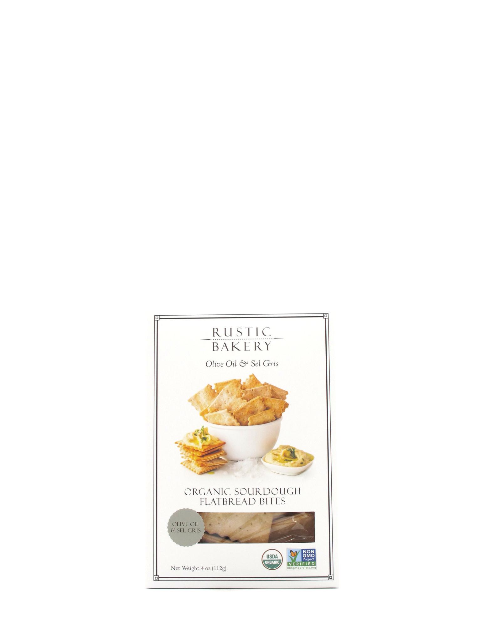 Rustic Bakery Rustic Bakery Olive Oil & Sel Gris Flatbread Bites 4oz