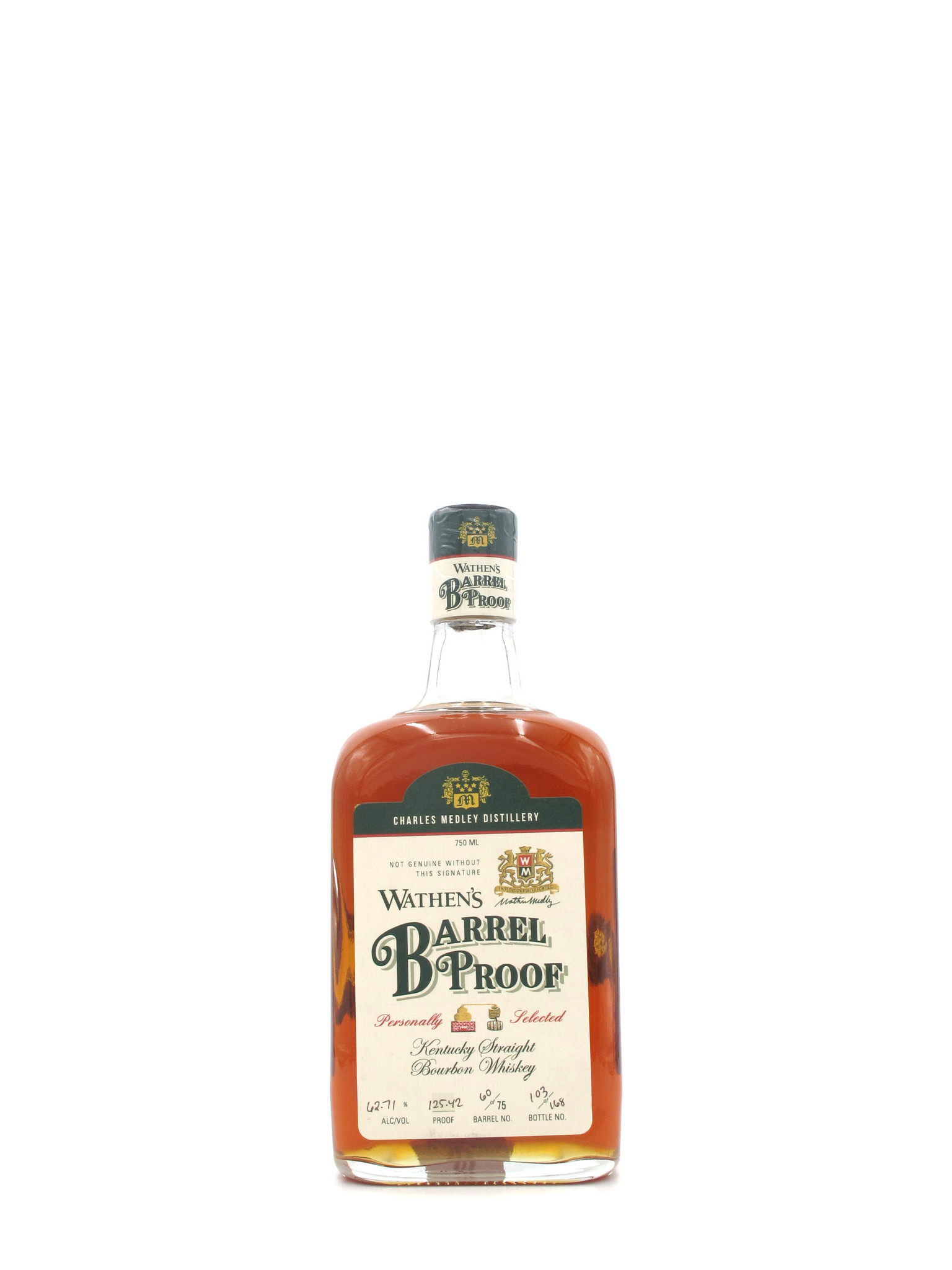 Medley Brothers Wathen's Single Barrel No. 60 Barrel Proof Kentucky Straight Bourbon 750ml