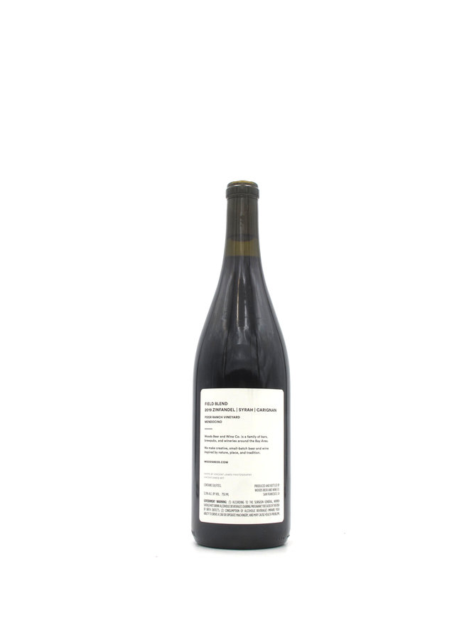 2019 Woods Beer & Wine Co. 'Poor Ranch Vineyard' Field Blend 750ml