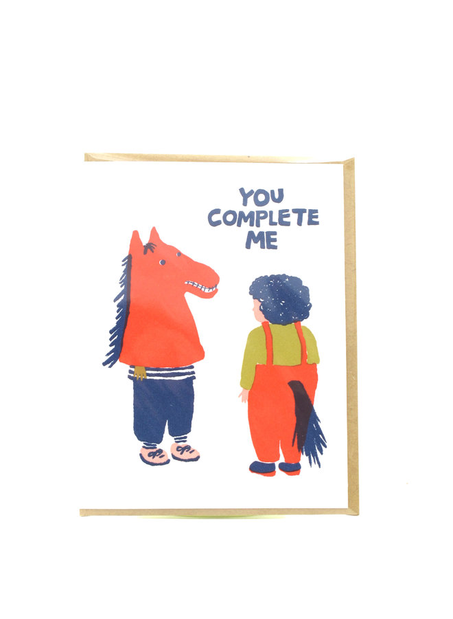You Complete Me Egg Press Greeting Card