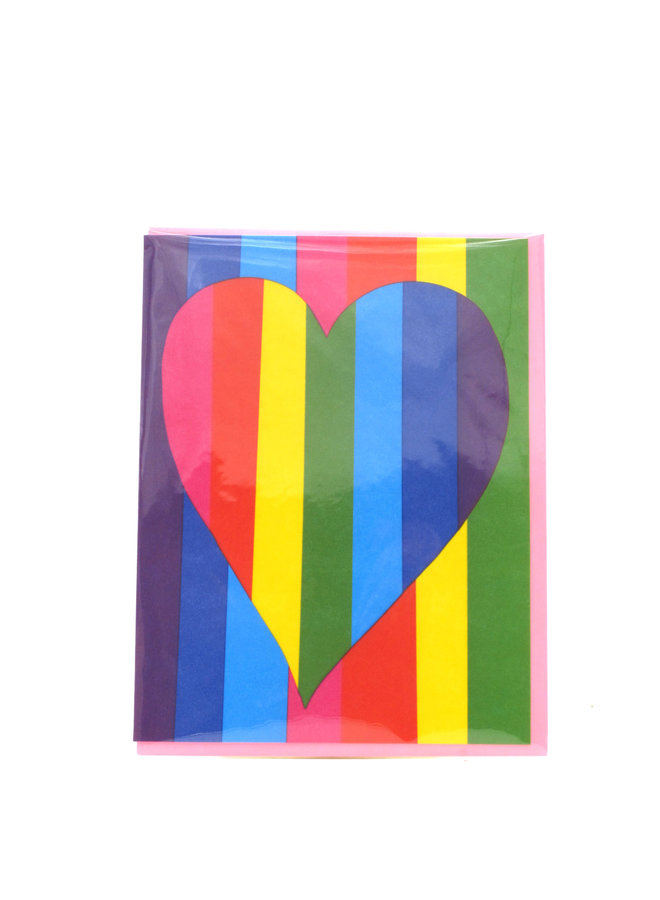 Rainbow Heart Egg Press Greeting Card