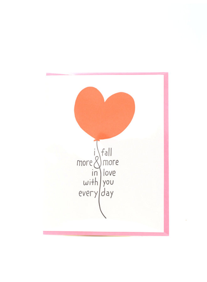 More and More In Love Egg Press Greeting Card