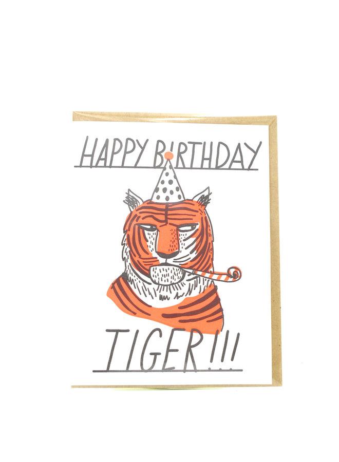 Happy Birthday Tiger Egg Press Greeting Card