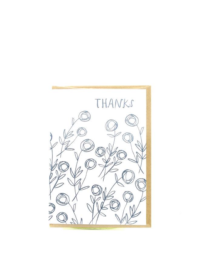 Roses Thanks Egg Press Greeting Card