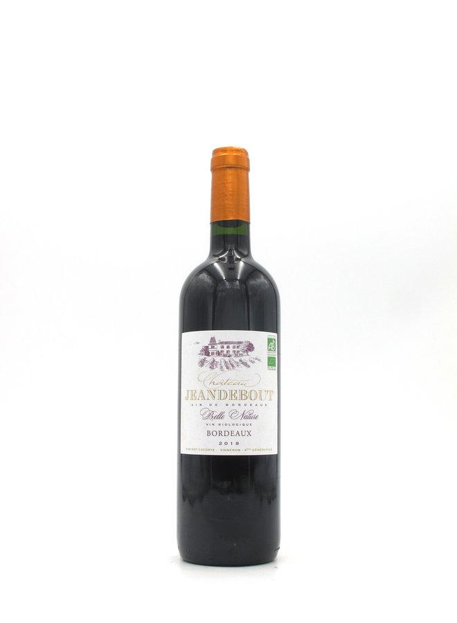 2018 Chateau Jeandebout 'Belle Nature' Bordeaux Rouge 750ml