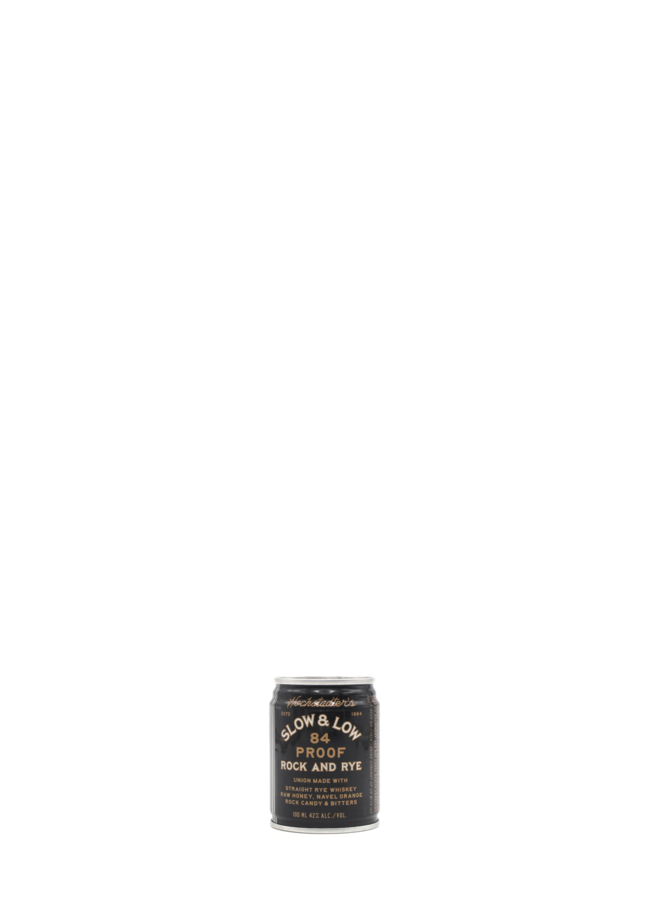 Slow and Low Rock & Rye Cans 100ml