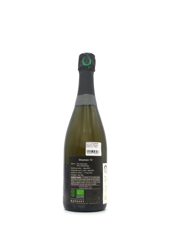 2015 Champagne Marguet 'Shaman' Grand Cru 750ml