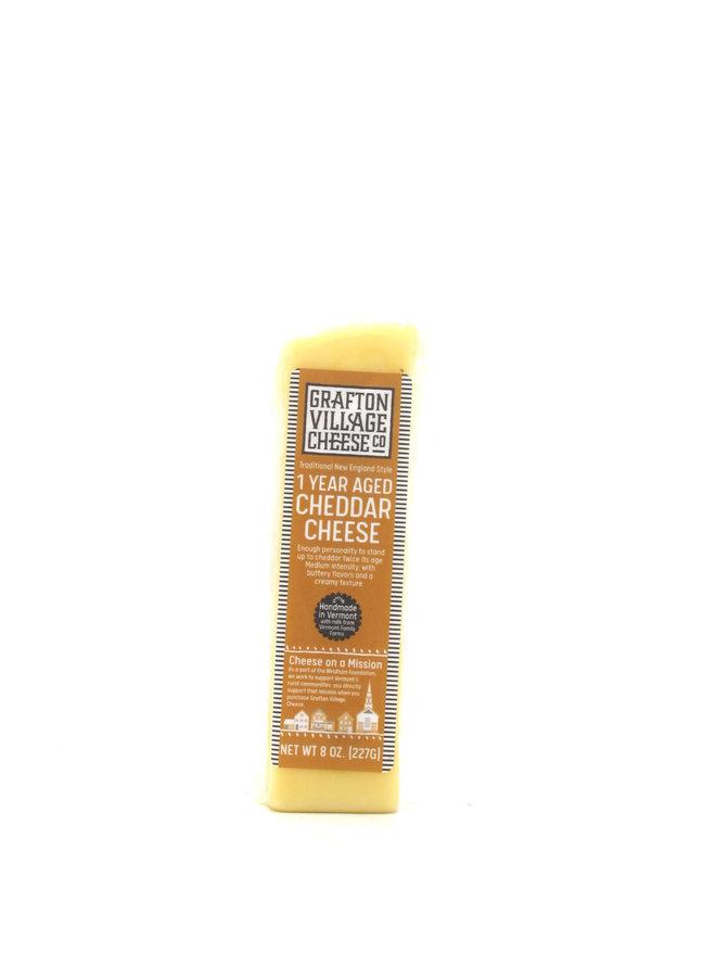Grafton Village Cheese Cheddar 1yr 8oz