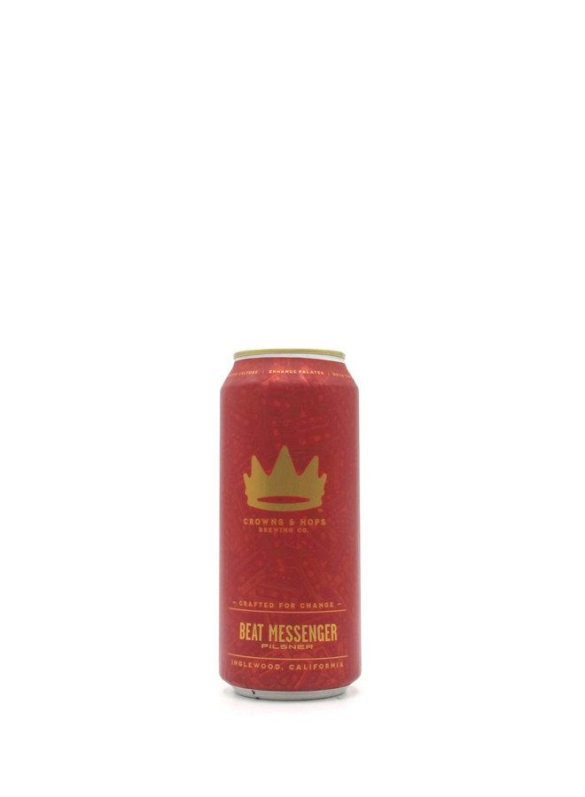 Crowns & Hops Beat Messenger Pilsner 16oz
