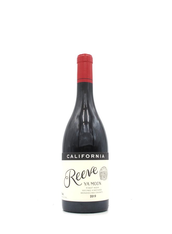 2019 Reeve Ya Moon' Pinot Noir, Vecino Vineyard, Mendocino County 750ml