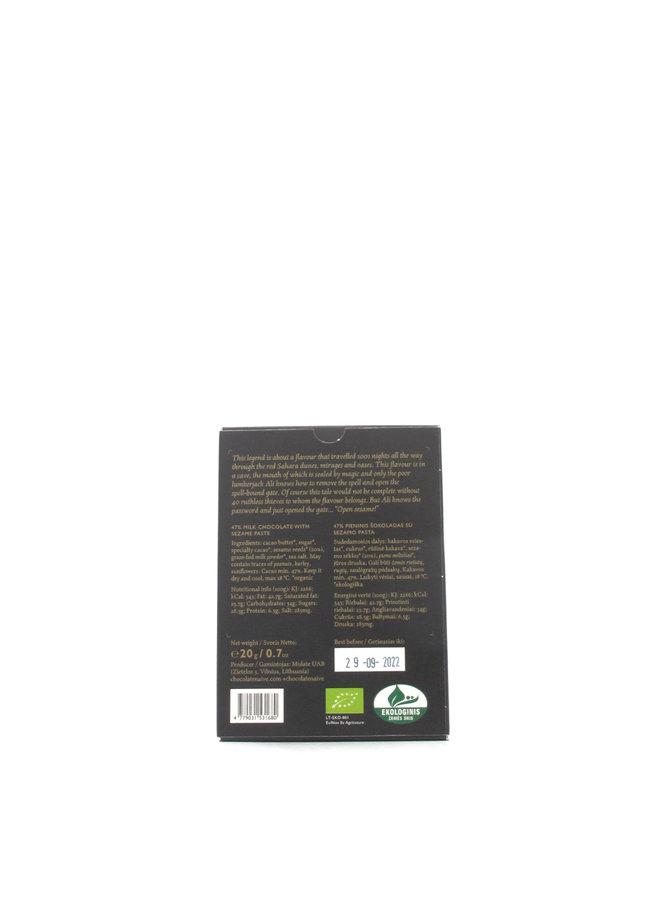 Naive Tahini Organic Milk Chocolate 42% Mini