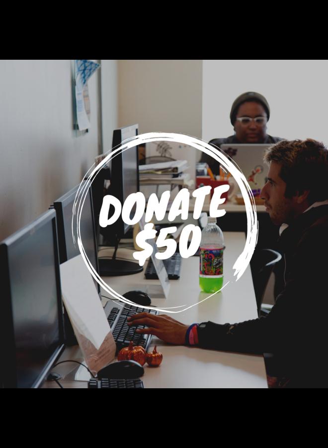 Donate $50 to SPY!