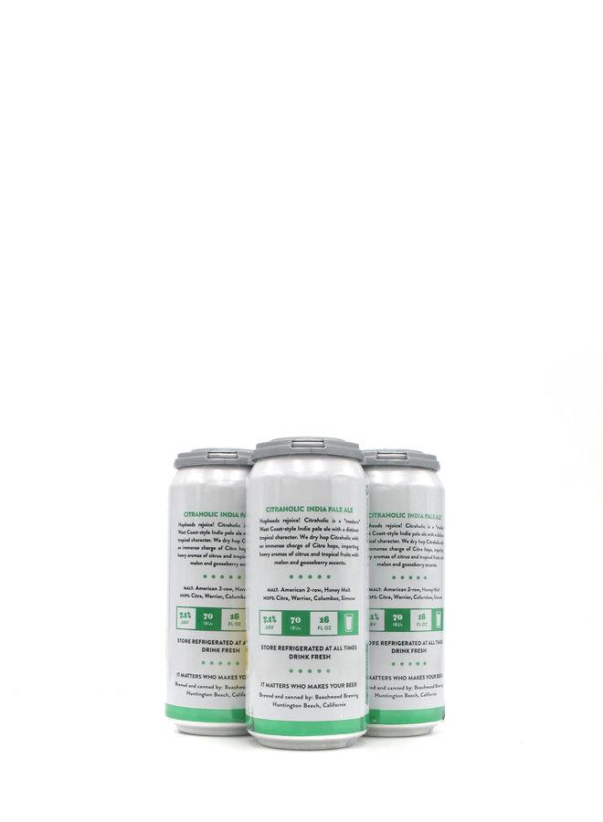 Beachwood Brewing Citraholic 16oz 4pk