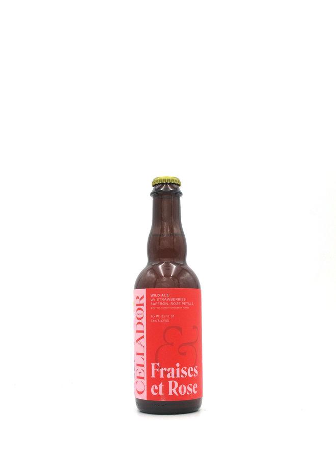 Cellador Ales / Beachwood Brewing Collab Fraises et Roses 375mL