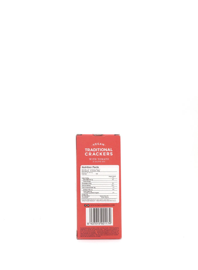 Paul and Pippa Traditional Crackers with Tomato & Olive Oil 4.6oz