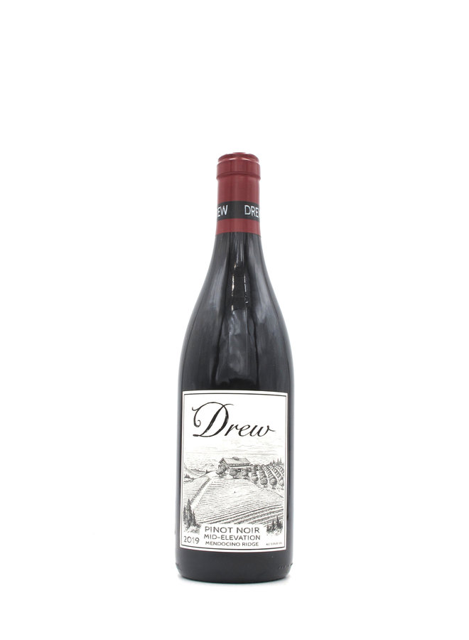 2019 Drew Family Wines 'Mid-Elevation' Pinot Noir 750mL