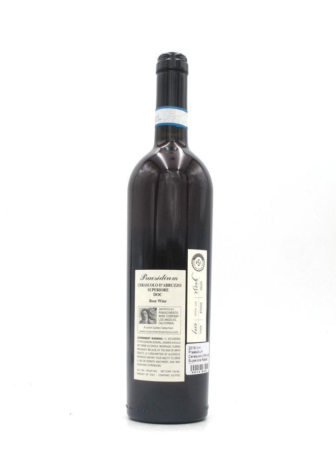 2018 Vini Praesidium Cerasuolo d'Abruzzo Superiore Rosato 750ml