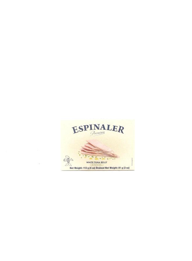 Espinaler Bonito Ventresca in Olive Oil Premium 112g