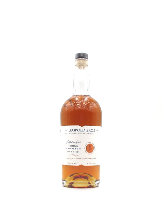 Leopold Bros. Three Chamber Rye Whiskey 750mL