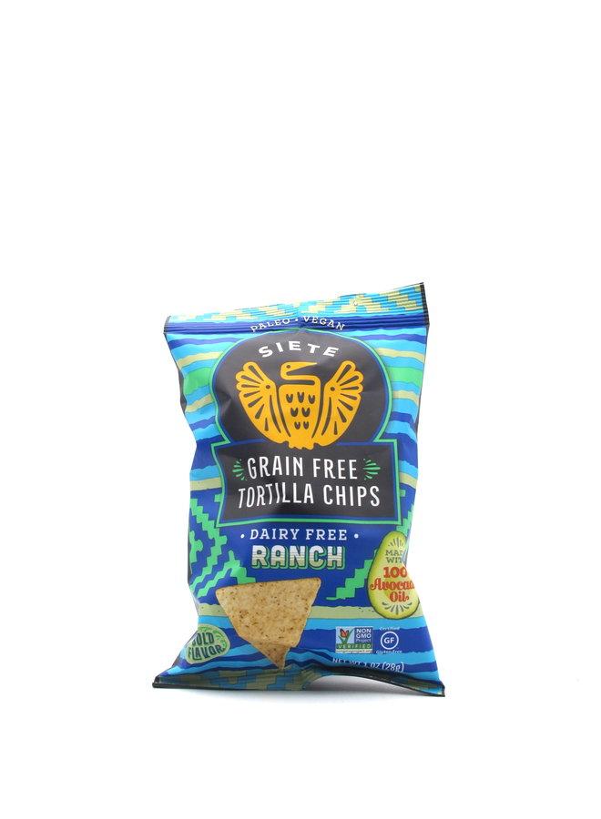 Siete Ranch Grain Free Tortilla Chips 1oz