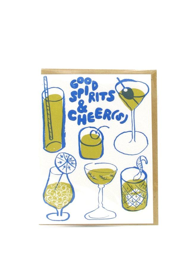 Good Spirits Cheers Egg Press Greeting Card
