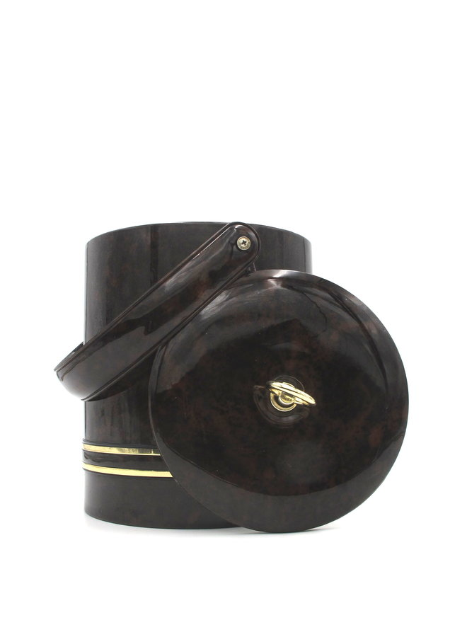 Vintage Georges Briard Vinyl And Brass Ice Bucket
