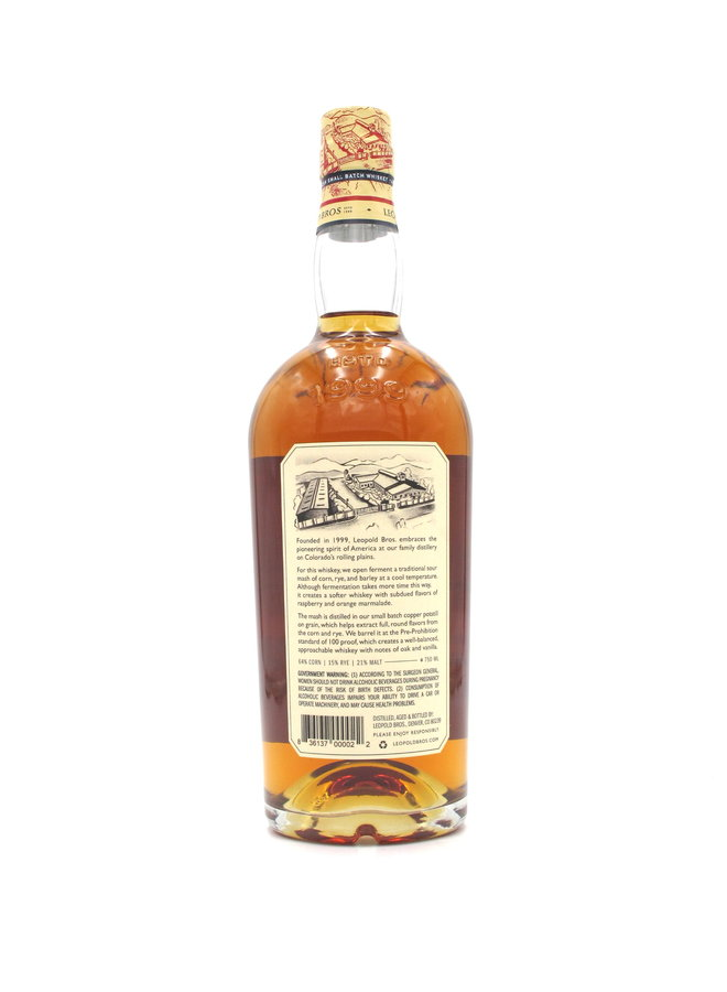 Leopold Bros. American Small Batch Whiskey 750mL