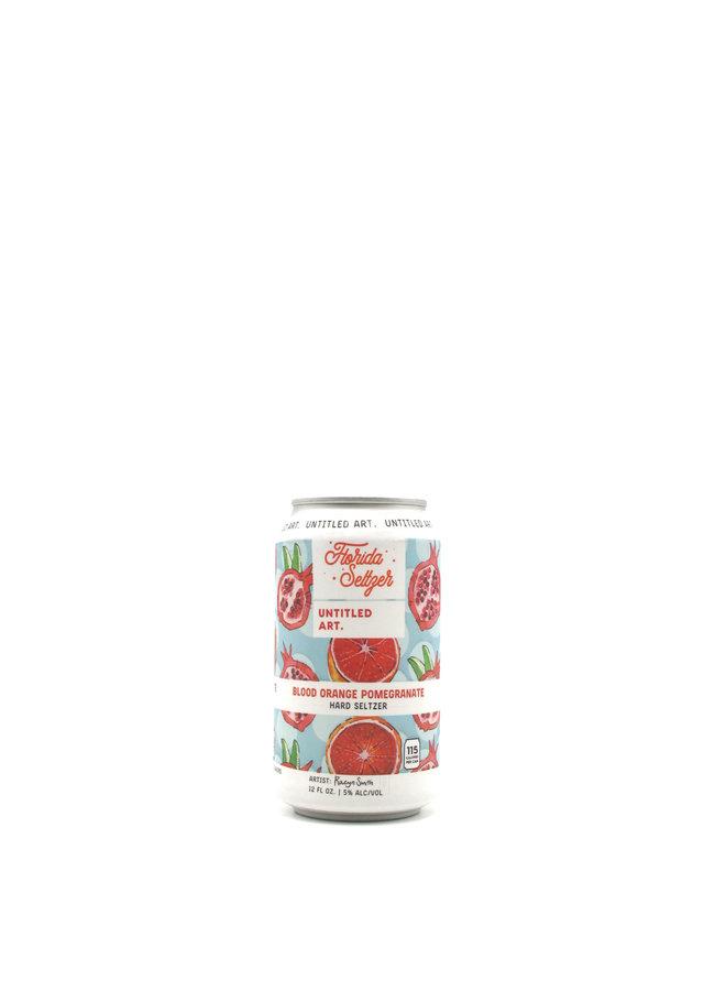 Untitled Art Florida Seltzer Blood Orange Pomegranate 12oz