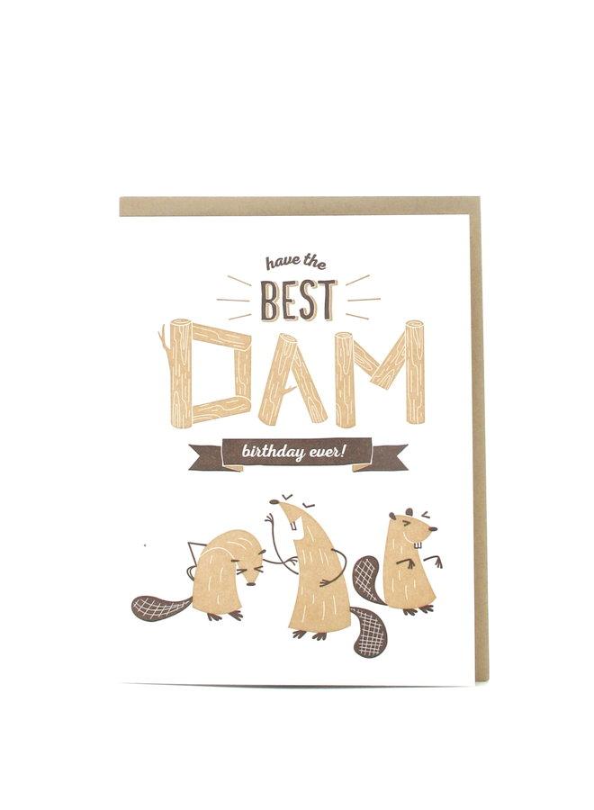 Best Dam Birthday Elum Greeting Card