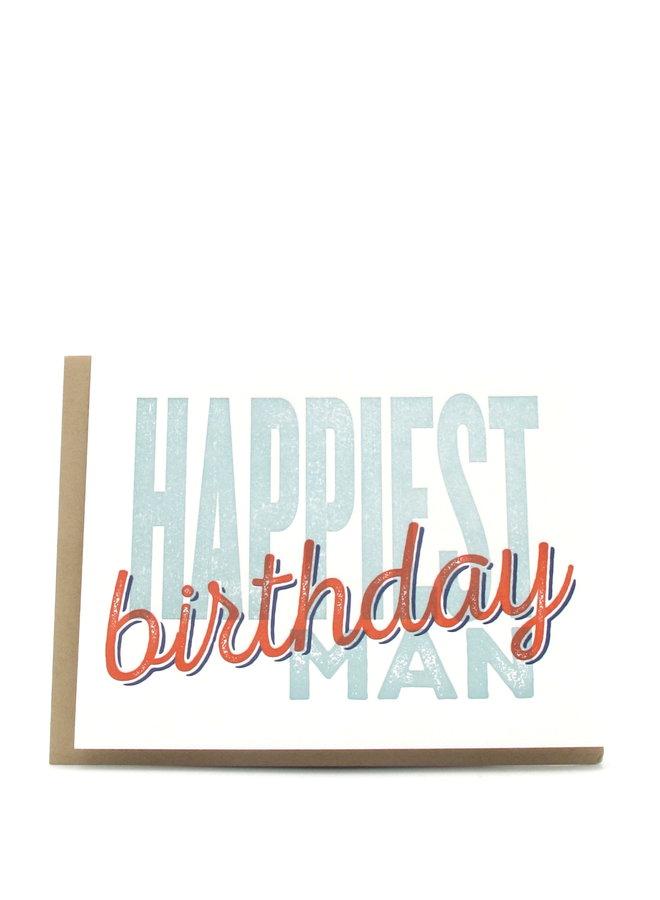 Happiest Birthday Man Superimpose Elum Greeting Card