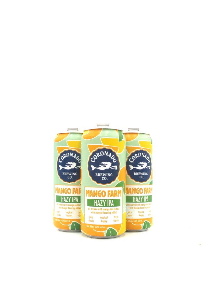 Coronado Brewing Mango Farm IPA 16oz 4pk
