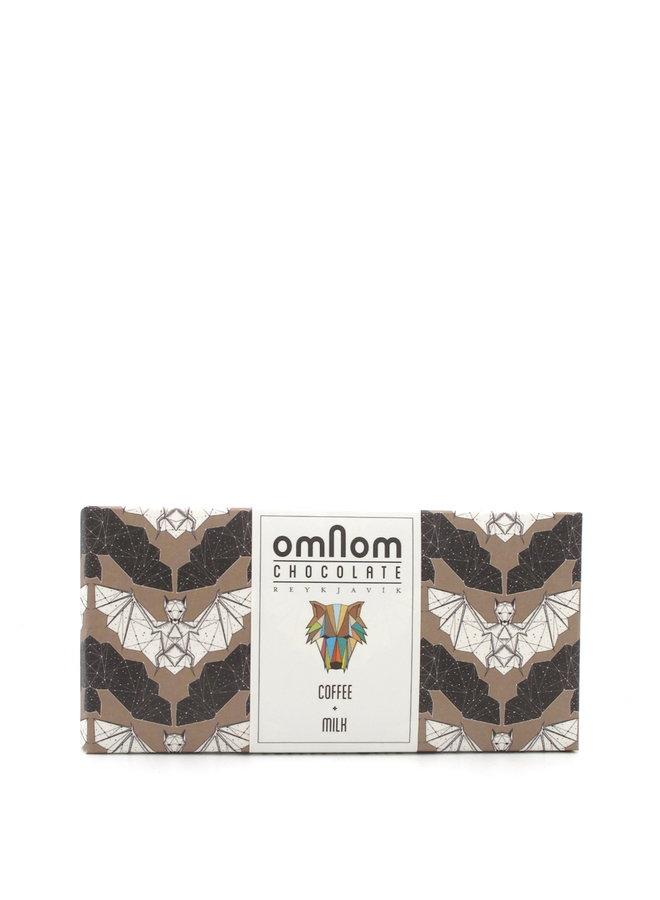 OmNom Coffee + Milk Chocolate 60g